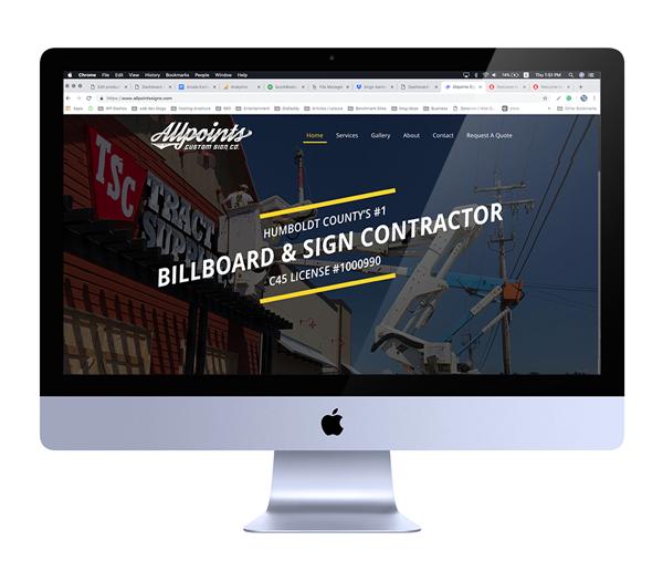 Sign Contractor Web Design - Eureka, CA