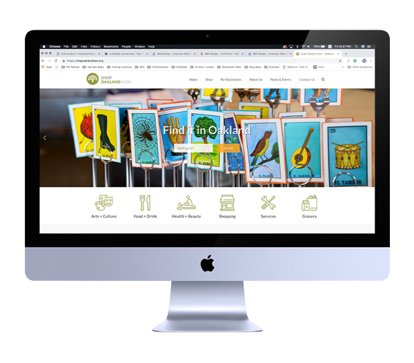 Web Design for Shopping Directory in Oakland, California